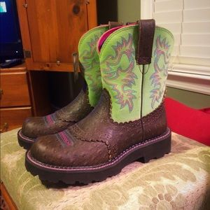 NWT Ariat Fatbaby Cowboy Boots 7.5